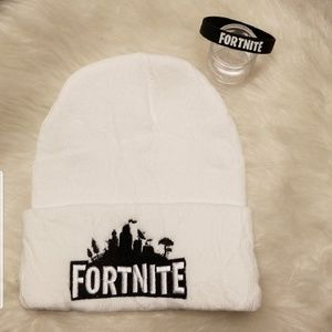 Other - Fortnite WHITE embroidered beanie